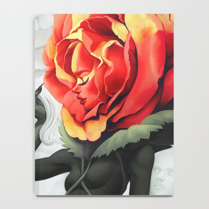 Alice in Wonderland Rose Notebook