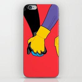 Hand Holding in Gotham iPhone Skin