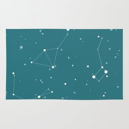 Emerald Night Sky Rug