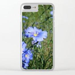 Blue2 Clear iPhone Case