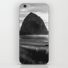 Cannon Beach Sunset - Black and White Nature Photography iPhone Skin