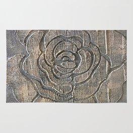 Novato Grey Tone Flower Painting Rug