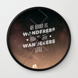 Wanderers - MSL/Curiosity Commemoration Print Wall Clock