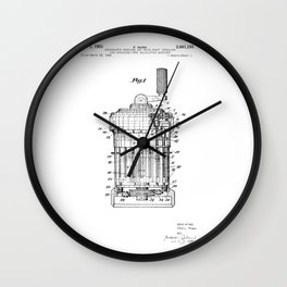Curta Mechanical Calculator Patent Drawing (3 of 3) Wall Clock