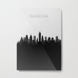 City Skylines: Philadelphia (Alternative) Metal Print