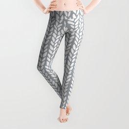 Knit Wave Grey Leggings