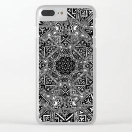 mandala mystery bw Clear iPhone Case