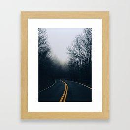 Winding Mountain Roads Framed Art Print