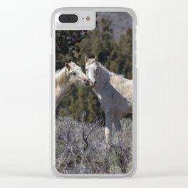 Wild Horses with Playful Spirits No 1 Clear iPhone Case