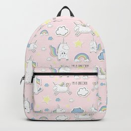 I'm a Unicorn - light pink Backpack