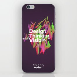 Design is Thinking made Visible iPhone Skin