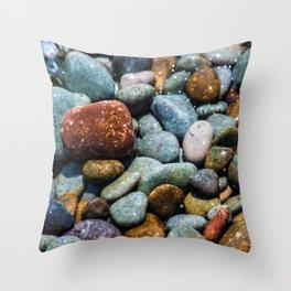 Pebble beach 3 Throw Pillow