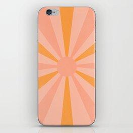 pink and orange sunshine iPhone Skin