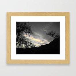 Heaven was open Framed Art Print