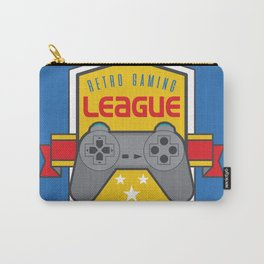 Geeky Gamer Chic Classic Vintage Gaming PSX Inspired Vintage Gamer League Old School Cool Carry-All Pouch