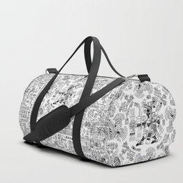 Mayan Spring B&W Duffle Bag