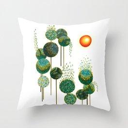 Bosque de Abedules Throw Pillow
