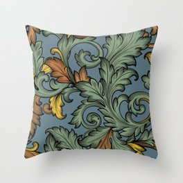 Acanthus Leaves Throw Pillow