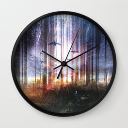 Absinthe forest Wall Clock