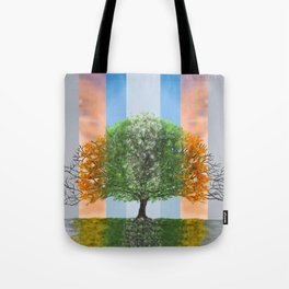 The seasons of the year in a tree Tote Bag