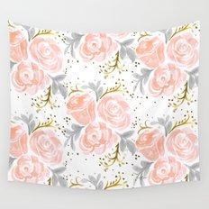 Sparkling Rosé flora Wall Tapestry