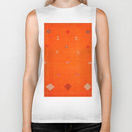 -A10- Traditional Anthropologie Moroccan orange Artwork. Biker Tank