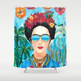 Frida Aruba Shower Curtain