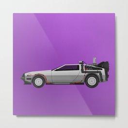 Back to the Future DeLorean 1 Metal Print