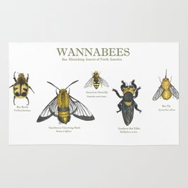 wannabees: Bee Mimicking Inects Rug