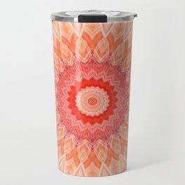 Mandala soft orange Travel Mug