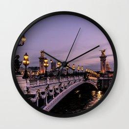 Nights in Paris Wall Clock