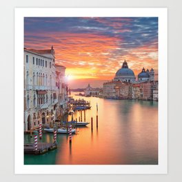 VENICE AT SUNRISE Art Print