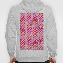 Tribal Scribble Kilim in Neon Coral + Neutral Hoody