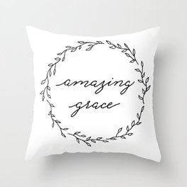 amazing grace Throw Pillow
