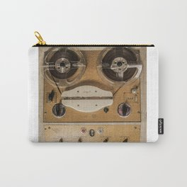 Vintage tape sound recorder reel to reel Carry-All Pouch