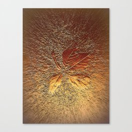 Rust glitter leaves in fall Canvas Print