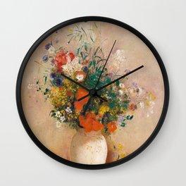 Odilon Redon - Vase of Flowers (1906) Wall Clock