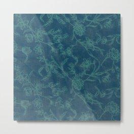 Flower Pattern (Green version) Metal Print