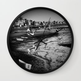 Muddy Feet in the Basin Wall Clock