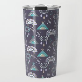 Indian Pattern Purple Travel Mug