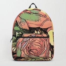 Wonderful toony Roses Backpack