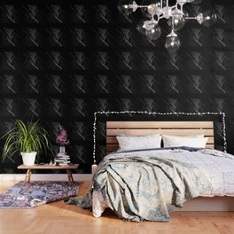 Black and White Flux #minimalist #homedecor #generativeart Wallpaper