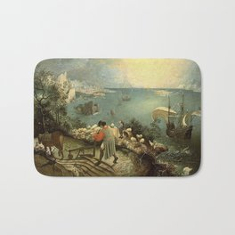 Landscape with the Fall of Icarus - Pieter Bruegel Bath Mat