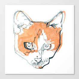 Kitten with a Soul Patch Canvas Print