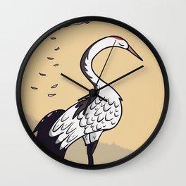 Sakura Crane Wall Clock