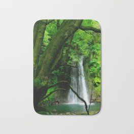 Waterfall in Azores islands Bath Mat