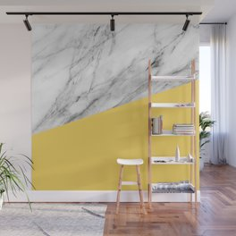 Marble and Primrose Yellow Color Wall Mural