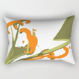 Luscious Lily Bold Graphic Pop Art Flower Print Rectangular Pillow
