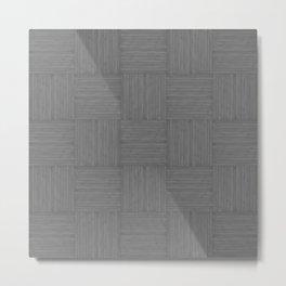Grey Gray Faux Bois Wood Pattern Metal Print