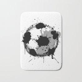 Grunge football ball Bath Mat